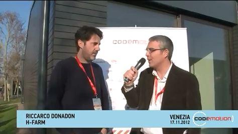 Codemotion 2012: videointervista a Riccardo Donadon, Founder H-Farm