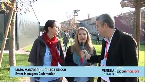 Codemotion 2012 – Videointervista alle fondatrici Chiara Russo e Mara Marzocchi