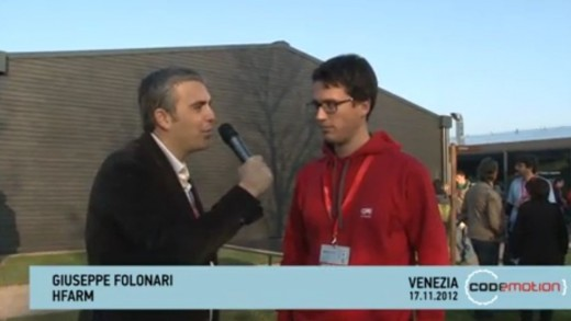Codemotion 2012 – Videointervista a Giuseppe Folonari, Associate at H-Farm Ventures