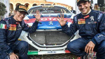 I campioni italiani di rally Paolo Andreucci e Anna Andreussi al WeChange IT Forum 2019